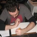 Joe Haley drawing for Jeanne Robinson