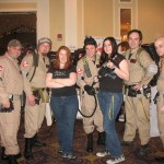 Kriana and Dru with the Ghostbusters