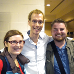 Andrew and Lara meet Doug Jones